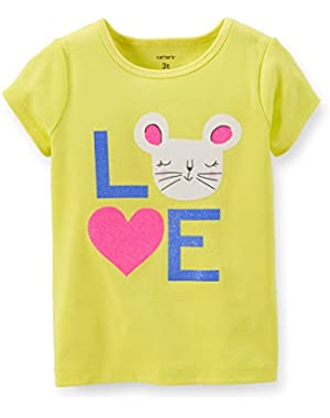 Love Mouse Tee (Girl Yellow, 12 Months)