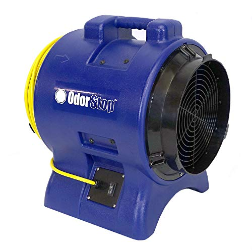 "OdorStop OS2700-1 HP High Velocity 12"" Axial Blower, 3450 RPM, Water Proof Switch, 25"