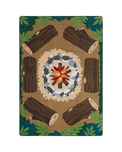 Joy Carpets Rectangle Multicolor Decorative Campfire Fun Multi Color - 5'4