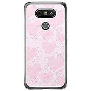 Loud Universe LG G5 Love Valentine Printing Files Valentine 161 Printed Transparent Edge Case - Pink