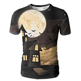 Halloween Witch Men's 3D Short Sleeve T-Shirt