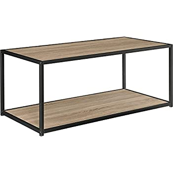 Marvelous Ameriwood Home Canton Coffee Table With Metal Frame, Distressed Gray Oak