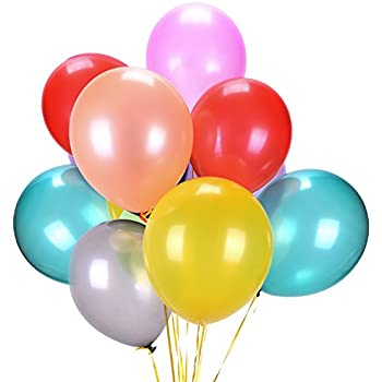 latex balloons assorted color party balloons bulk 160pcs party supply thick premium quality 12 inches decorations