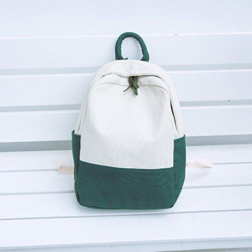 À Casual Messager Jiangfu Voyage Sac D'écolier De Hit Dos Toile Femme Main Femmes Cabas Couleur Mode Vert qUHtz