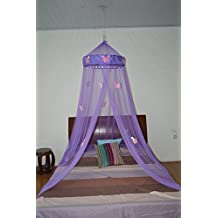 Butterfly Bed Canopy Mosquito NET Crib Twin Full Queen King (Purple)