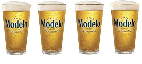 Cerveza Modelo Especial Pint Glass Set of 4