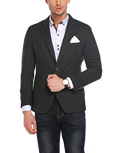 JINIDU+Men%27s+Regular+Fit+Two+Button+Business+Dress+Suit+Blazer+Casual+Fashion+Jacket+Coat