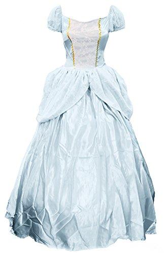 Bslingerie Women Blue Princess Cinderella One Piece Dress Costume (S, Blue) (Dead Princess Halloween Costume)