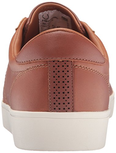 Fred Perry Spencer Waxed Leather Sneaker Tan fz7ID9