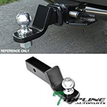 "Topline Autopart Universal 2 Inch Drop Rear Bumper Trailer Tow Hitch Loaded Ball Mount With Pin & Clip Kit For 2"" x 2"" Towing Receiver Tube"
