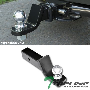 Topline Autopart Universal Class 3 III Trailer Towing Hitch Mount Receiver Rear Bumper Utility Tow Kit 2