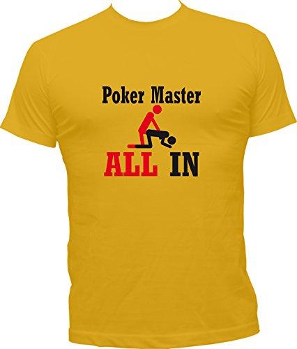 Giallo Master Boutique Humour Kko Maglietta Poker FfUXFr
