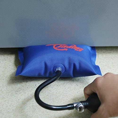 軽量アルミ合金ドアおよびウィンドウポジショニングエアバッグアンチスキッドエアクッション取り付け固定エアバッグ-ブルー
