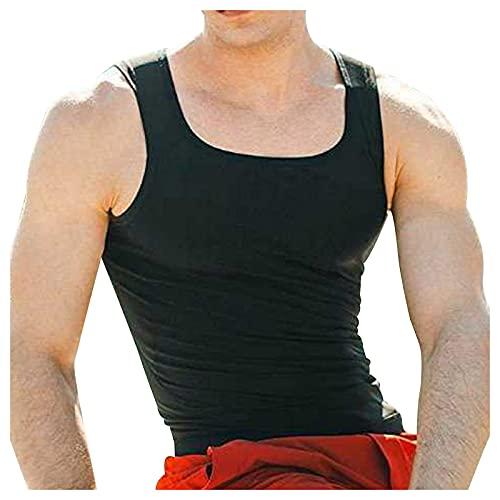 Tanktop voor heren, sauna-vest, polyurethaan, loopshirt, zweetvormer, sport, onderborst, sauna, shirt, bovenstuk…
