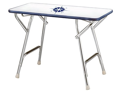 Marine Folding Rectangular Deck Table for Boat- Anodized Aluminum . Five Oceans