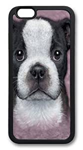 Rosesea Custom Personalized Custom DIY Case for iphone 6 Plus, Boston Terrier Puppy Hard PC Back Protective Case for iphone 6 Plus 5.5