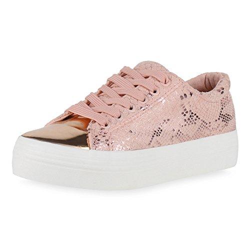 napoli-fashion - zapatos de tacón Mujer Rosa Snake