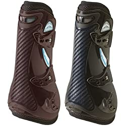 Veredus Unisex Carbon Gel Vento Open Front Boot Black Large US