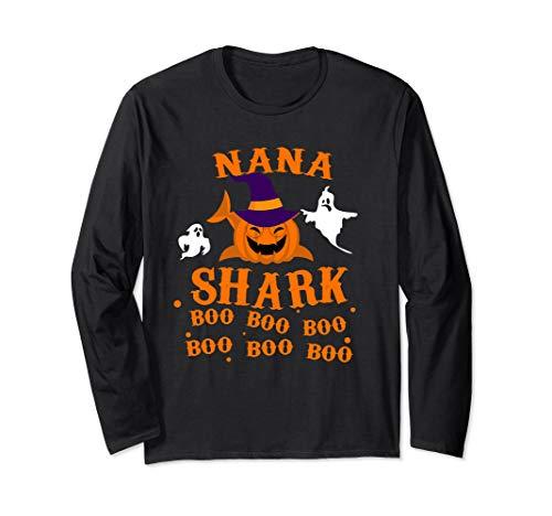 Funniest Halloween Costumes Of 2019 (Halloween Outfit For NaNa- NaNa Shark Boo Boo Boo Long Sleeve)