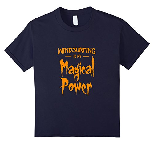Surfer Costume Girl Ideas (Kids Windsurfing Is My Magical Power T-Shirt as Halloween Gift 12)