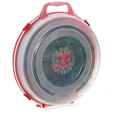 Red Wreath Seal (Homz Christmas Red/Clear 24