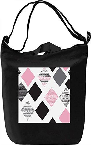 Triangles Borsa Giornaliera Canvas Canvas Day Bag| 100% Premium Cotton Canvas| DTG Printing|