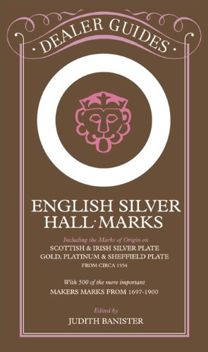 English Silver Hall-Marks: Including the Marks of Origin on Scottish & Irish Silver Plate, Gold, Platinum & Sheffield Plate: With 500 of the More Important Makers Marks from 1697-1900 (Dealer Guides)