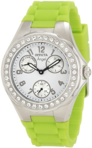 Invicta Women's 1639 Angel White Dial Crystal Accented Watch