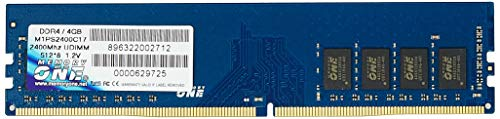 MEMORIA MEMORY ONE PLATINUM DDR4 4GB 2400HZ - M1PS2400C17/4GB, Memory One, Memória Platinum DDR4 4GB