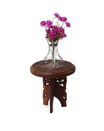 Rajveer Handicrafts Sheesham Wooden 3 Leg Multipurpose Table Amazon