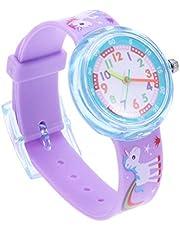 Polshorloge-Kinderen siliconen cartoon horloge schattig dinosaurus eenhoorn horloge jongens en meisjes mode horloge (eenhoorn)