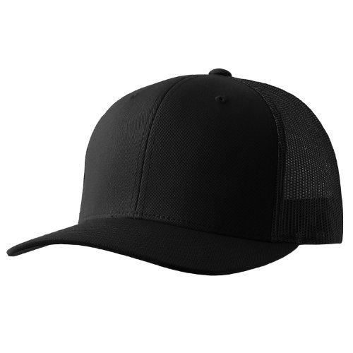 Yupoong Retro Trucker Hat & 2-Tone Snapback - 6606, (Black)