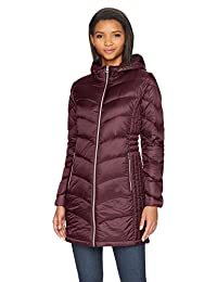 Lucky Brand Womens 3/4 Lightweight Packable Down Coat with Cinch Detail Jacket