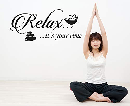 Wall Decals It's Your Time Quote Decal Relax Vinyl Sticker Home Decor -