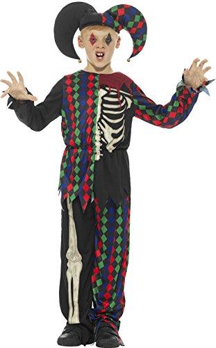 Smiffy's Skeleton Jester Costume, Multicolor, Medium (Jester Skeleton)