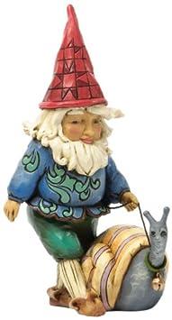 Jim Shore for Enesco Heartwood Creek Gnome Walking Snail Figurine, 5.5-Inch