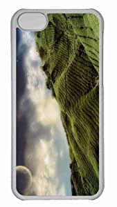 Customized iphone 5C PC Transparent Case - Tea Field Personalized Cover