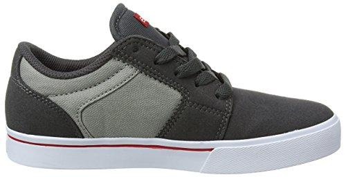 etnies Kids Barge LS - Zapatillas de Skate Niños Grey (Dark Grey/Grey/Red)