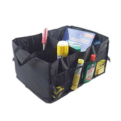 FakeFace Große Kofferraum-Organizer, Einkaufstasche oder TransportkisteKoffer Raum-Falttasche von Kewago Hochwertige Auto Faltbox aus Oxford Gewebe