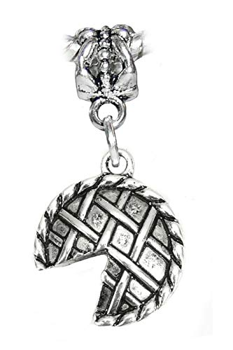 Pie Dessert Lattice Top Cherry Apple Food Dangle Charm for European Bracelets Jewelry Making Supply by Wholesale Charms