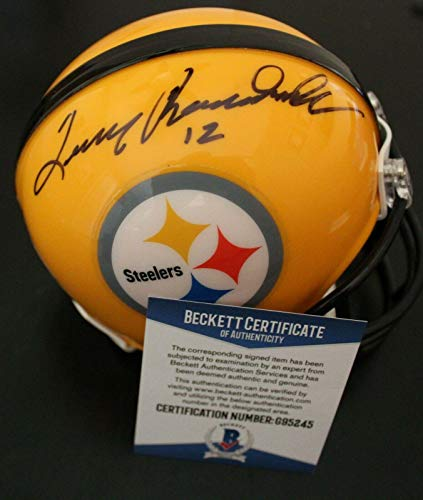 Terry Bradshaw Autographed Helmet - Mini W Beckett COA Proof G95245 - Beckett Authentication - Autographed NFL Mini Helmets
