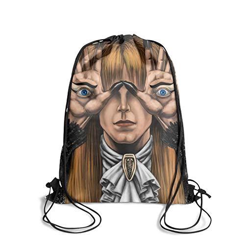 Pouch drawstring backpack string bag convenient sackpack gymsack