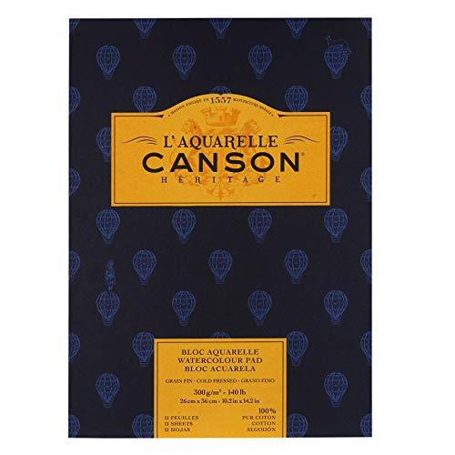 Canson C100720015 Cold Press Heritage, White