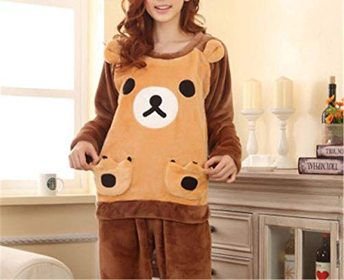 E Bear Home Camisones Biscuit color Mujer Mmings large Lindo Pijamas Para Animados Gruesa Size Dibujos Service Invierno Otoño X D D Franela De Estudiante naYwCdZYq