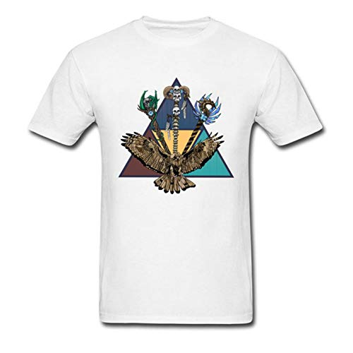 Zshirts Triad Eagle Skulls Men's Men T-Shirt Printing Short Sleeve Tee-White-L
