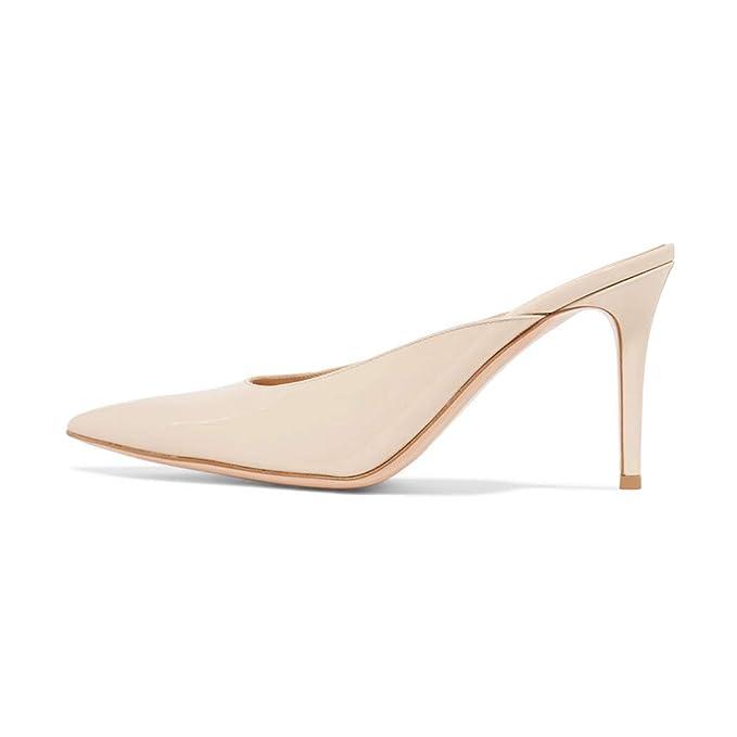 26e2b6909f672 LL Da donna scamosciato Sottile tacco alto Scarpe singole appuntito Punta  chiusa sandalo sandali