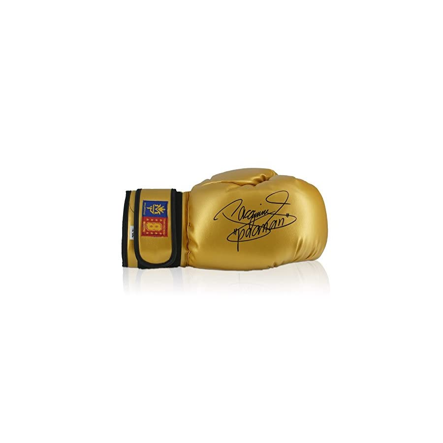 Gold Boxing Glove Signed By Manny Pacquiao In Gift Box
