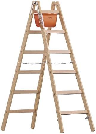Madera escalera de mano modelo 1038 para herramientas con 4 peldaños, alto 0,55 m, longitud 1,25 m: Amazon.es: Bricolaje y herramientas