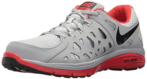 Nike Men's Dual Fusion Run 2 Pr Pltnm/Blk/WLF Gry/Lt Crmsn Running Shoe 10 Men US