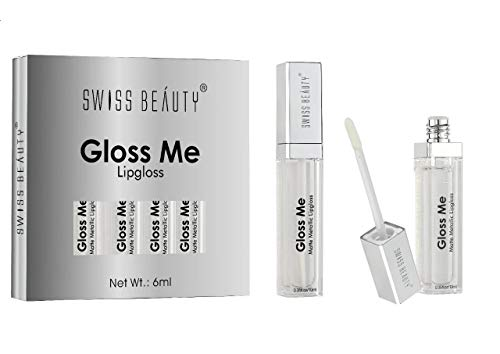 Swiss Beauty Gloss Me Transparent Color Supreme Shine Lip Gloss ~ 10ml